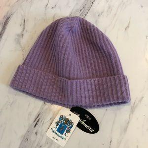 Portolano cashmere hat lavender color new